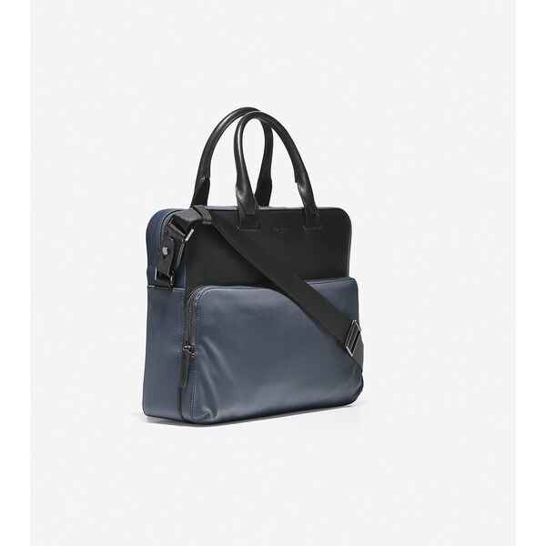 GRANDSERIES Nylon and Leather Attache, Ombre Blue, hi-res