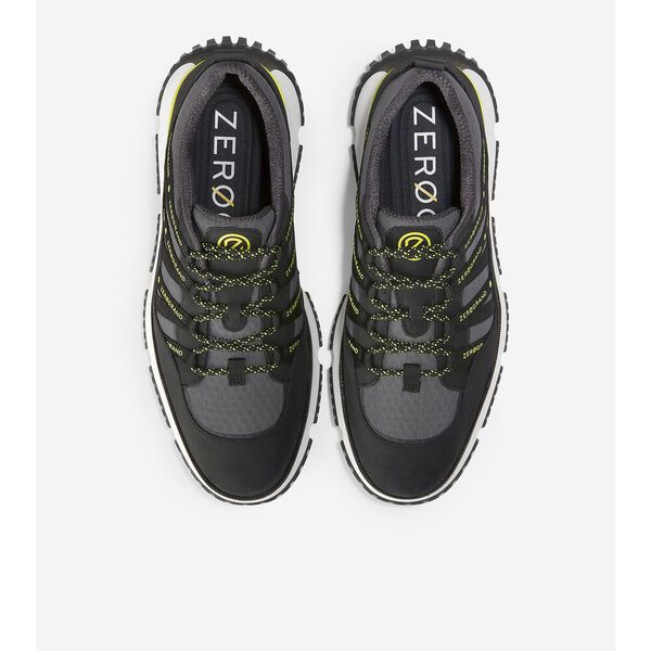 4.ZERØGRAND Seventy-Five Sneaker, Black-Grey Pinstripe-Safety Yellow, hi-res