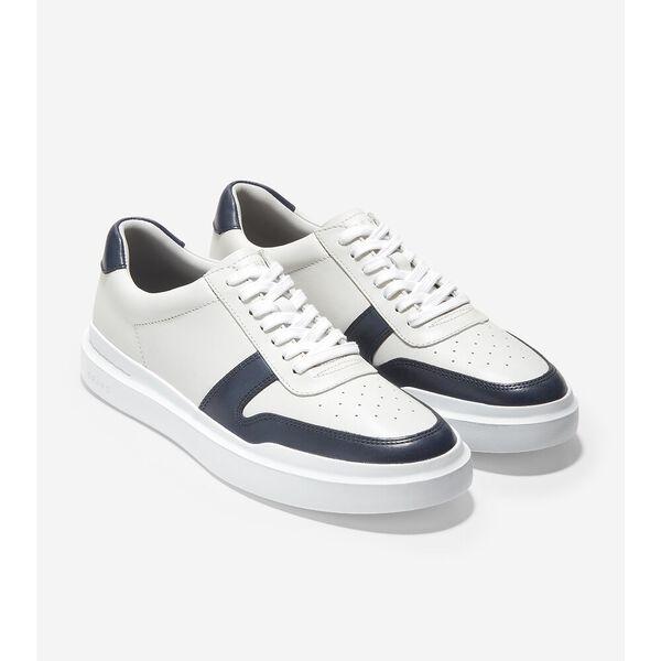 GrandPrø Rally Court Sneaker, White-Navy, hi-res