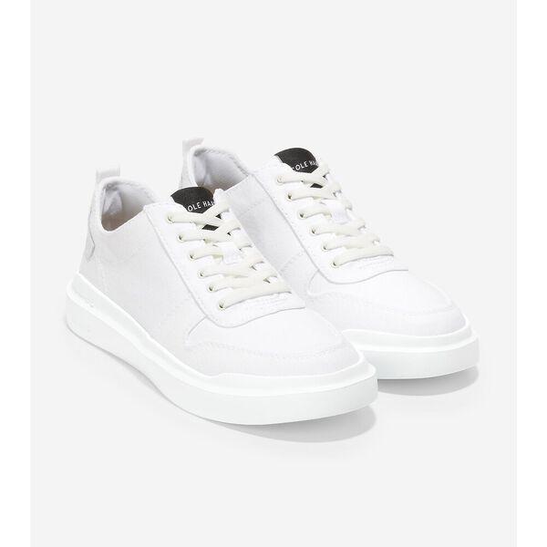 GrandPrø Rally Canvas Court Sneaker, Optic White-Black, hi-res