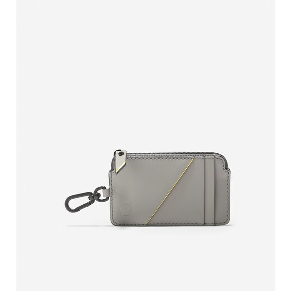 ZERØGRAND Zip Card Case with Key Ring