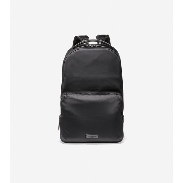 Nylon with Leather Backpack