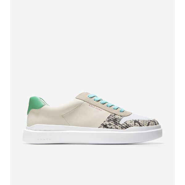 GrandPrø Rally Court Sneaker, Cement Suede-Snake Print, hi-res