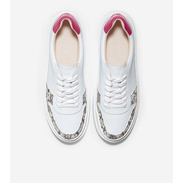 GrandPrø Rally Court Sneaker, Optic White-Corolla Natural Snake Print, hi-res