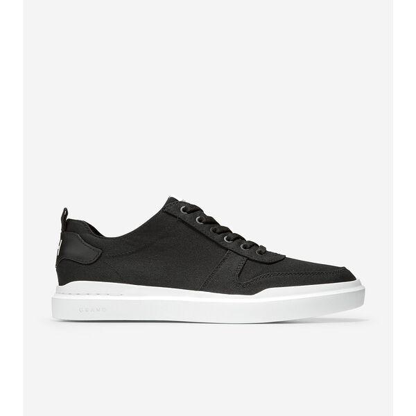 GrandPrø Rally Canvas Court Sneaker, Black-Optic White, hi-res