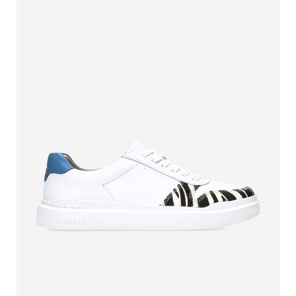 GrandPrø Rally Court Sneaker, Optic White-Zebra Print-Blue, hi-res