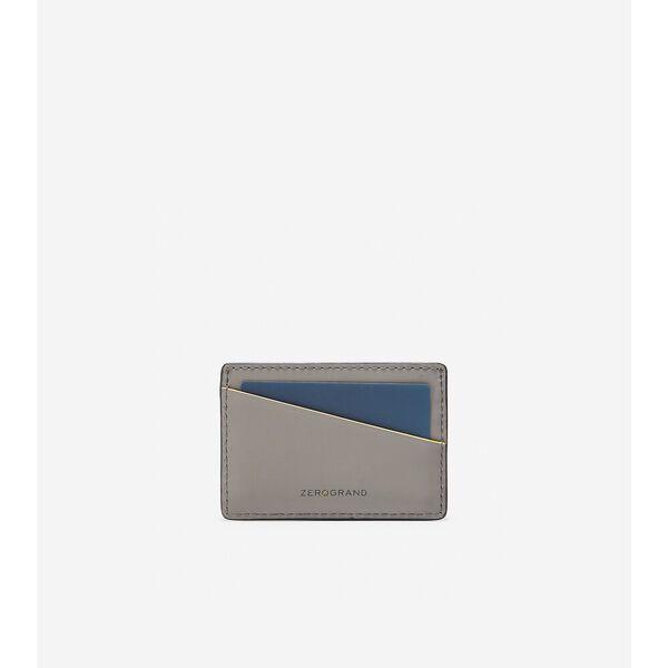 ZERØGRAND Card Case, Ironstone-Cyber Yellow, hi-res