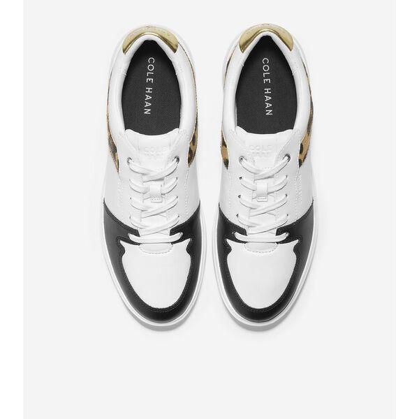 Grand Crosscourt Modern Sneaker, Optic White-Leopard Print, hi-res