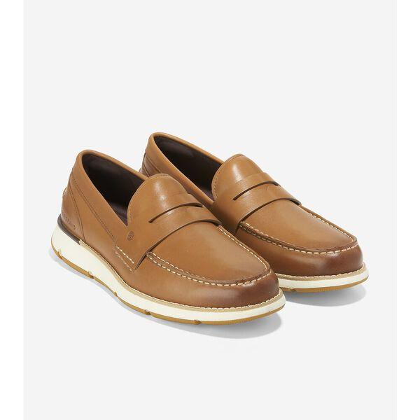 4.ZERØGRAND Loafer, British Tan-Ivory, hi-res