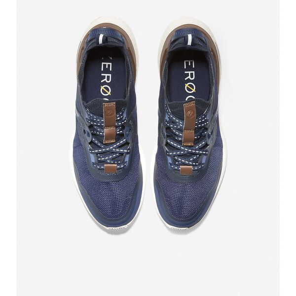 ZERØGRAND Overtake Running Shoe, Marine Blue-Optic White, hi-res