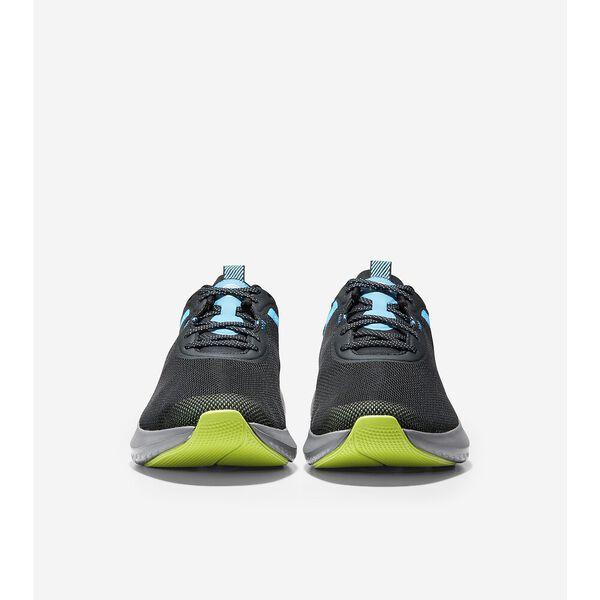 ZERØGRAND Outpace 2 Running Shoe, Black-Cyan-Lime, hi-res