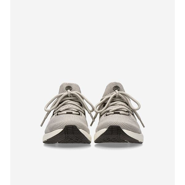 ZERØGRAND Overtake Lite Running Shoe, Dove Grey-Yellow, hi-res