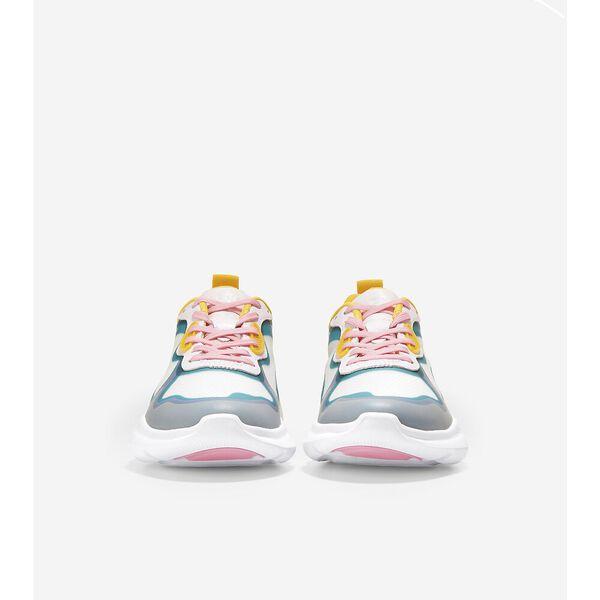 ZERØGRAND Radiant Sneaker, White-Tropical Pink-Deep Lake, hi-res