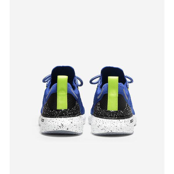 ZERØGRAND Overtake Lite Running Shoe, Pacific Blue-Lime-Black, hi-res