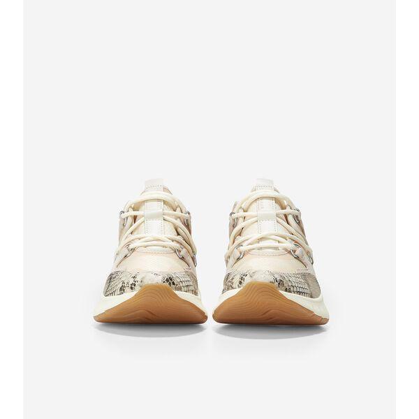 ZERØGRAND Flex Lace Up Sneaker, Soft Metal Snake Print, hi-res