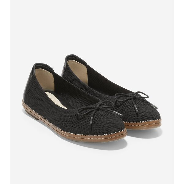 Cloudfeel All Day Knit Ballet, Black, hi-res