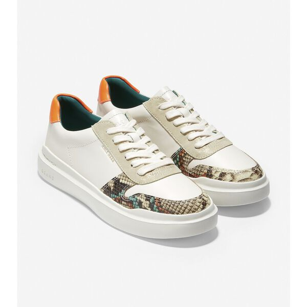 GrandPrø Rally Court Sneaker, Ivory-Crafted Snake Print-Gold Pixie, hi-res