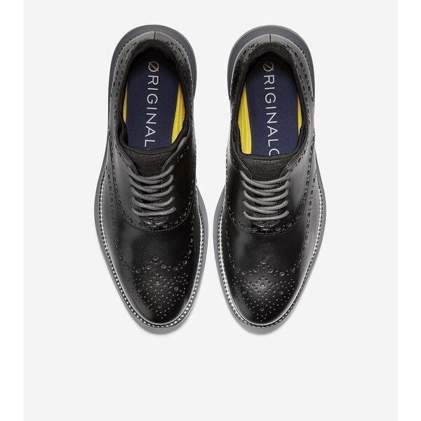 ØriginalGrand Ultra Wingtip Oxford, Black Leather-Quiet Shade, hi-res