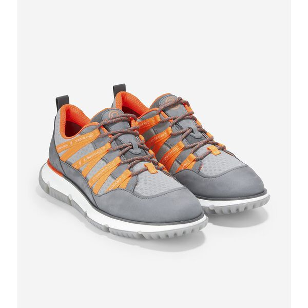 4.ZERØGRAND Seventy-Five Sneaker, Quiet Shade-Sleet-Vibrant Orange, hi-res