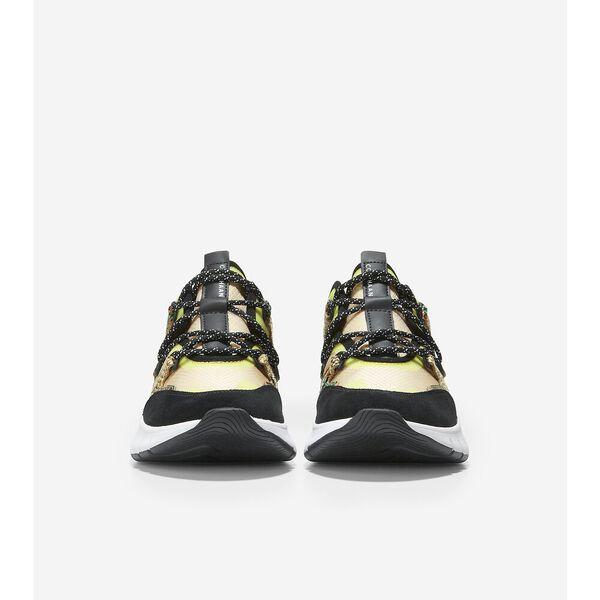 ZERØGRAND Flex Lace Up Sneaker, Black-Hybrid Snake Print, hi-res