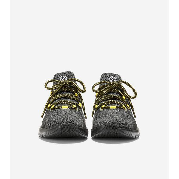 ZERØGRAND Overtake Lite Running Shoe, Black-Cyber Yellow, hi-res