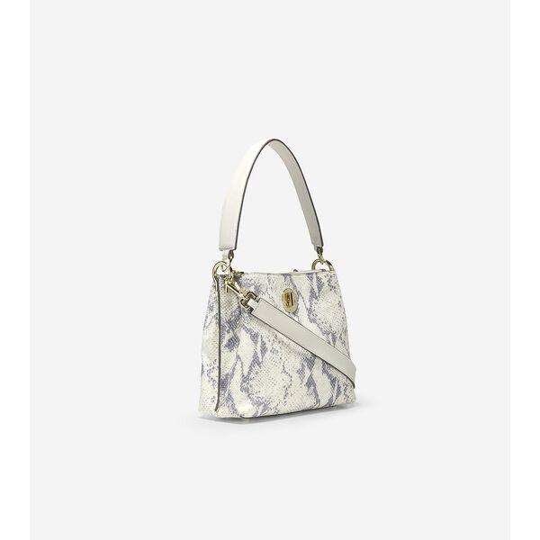Small Turnlock Bucket Bag, Ivory Roccia, hi-res