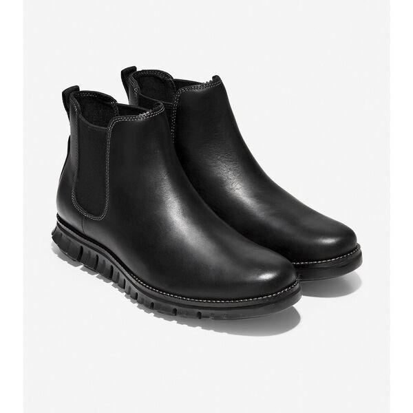 ZERØGRAND Chelsea Boot WP, Black Leather, hi-res